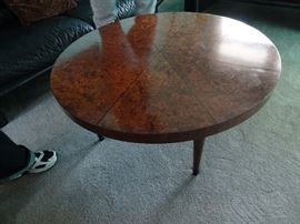 "Charak Mid-Century Modern Revolving Coffee Table 36"" R x 16.5'h"