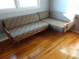 "Mid Century Modern Sectional Sofa - Each Section measures 54"" X 31.5"" X 30"""