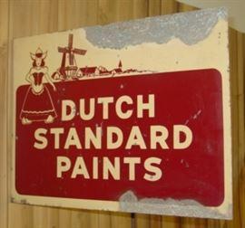 1949 Dutch Standard Paints Flange Sign
