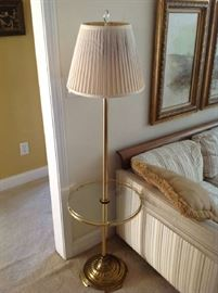 Glass table / Floor Lamp $ 40.00