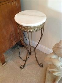 Marble Top / Metal Plant Stand $ 30.00