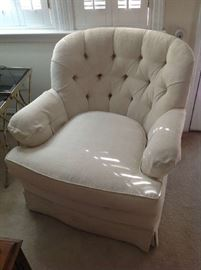White Upholstered Chair $ 60.00