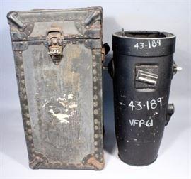 "WWII Fairchild 24"" K-17 Aircraft Camera Lens Cone Aerial Lens with K-17 Shutter and Kodak Aero-Ektar 610mm 9x18 EE1087 Lens, In ORIGINAL Case"