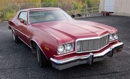 1976 Ford Gran Torino, Odometer Reads 06406 Miles, V-8 Engine, 400 cu in., Starsky & Hutch, VIN# 6H30S159654