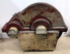 "Believed to be Frisco Railways Locomotive Wheel Cast Mold, 22"" x 34"" x 44"""