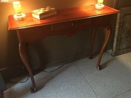 Antique console table with drawer