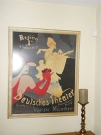 French Poster antique deutshen  Theater Marcom fine art Beverly hills framing was 250.oo