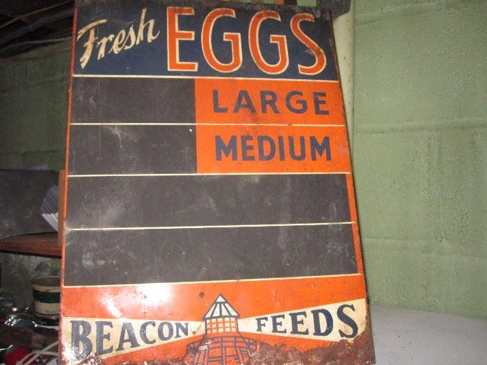 Old metal advertising Sign