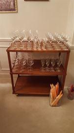 Etched Crystal Goblets & Glassware