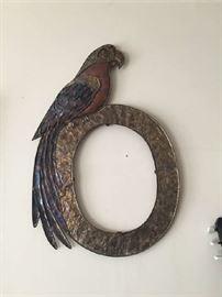 metal parrot frame