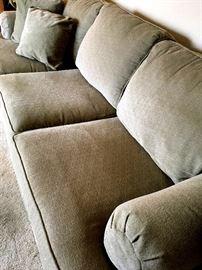 Amazing Sage Green Ethan Allen 3 Cushion Sofa...Like NEW!...