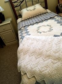 Twin Size Bed w/Headboard...Waiting for A Special Little Girl...Or...Guest Room?...