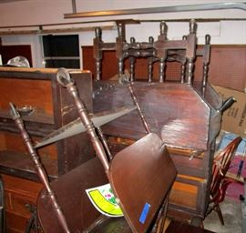 two drop leaf tables one an older colonial period gate leg