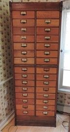 Antique Multidrawer Apothecary Cabinet with 15 drawers
