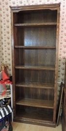 Tall Oak Shelving Bookcase