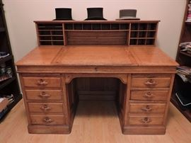 Antique Slant Top Railroad Desk