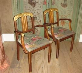 Pair of Antique Gilt Carved Chairs