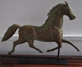 Weathervane: Late 19th C. Galloping Horse