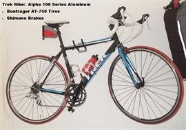 Trek Alpha 100 series bike with Bontrager Tires and Shimano Brakes