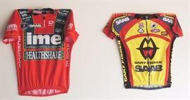 Bike accessories: car carrier, clothes, shoes, helmet, jerseys, Bell Bike trailer, bike pumps