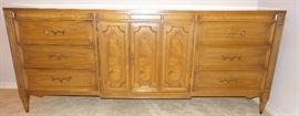 Credenza - vintage. For dining room buffet, large screen tv stand, entry table.  Matching oval dining room table set