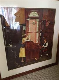Large framed Norman Rockwell print
