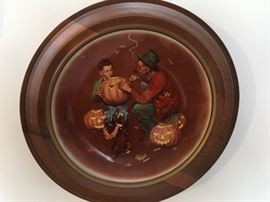 Four Seasons frames Norman Rockwell plates