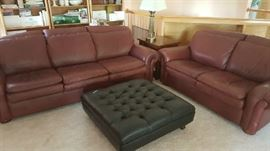 NICE LEATHER SOFA, LS, AND CHAIR