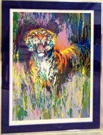 Signed Leroy Neiman Bengal Tiger 40x52