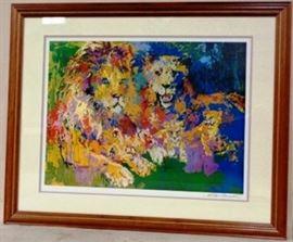 Leroy Neiman signed Lion's Pride