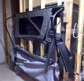 Soft Top For Jeep 2 Door Wrangler Sahara With Rack To Hold The Top, Like New, Only Used One Summer