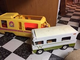 Vintage Barbie Camper and Tonka Winnebago