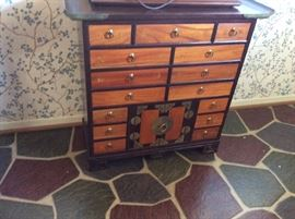 CHINESE MEDICINE CHEST SOMETIMES CALLED A WEDDING CHEST.
