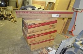 Belt Sander, Bandsaw and Jointer Attachments.