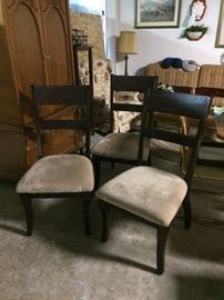 Upholstered dining chairs (set of 4)