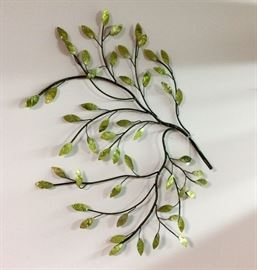 Leaves on branches wall decor