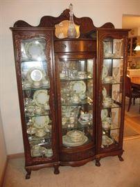 elegant vintage display cabinet