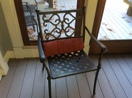 6 Wrought Iron Chairs