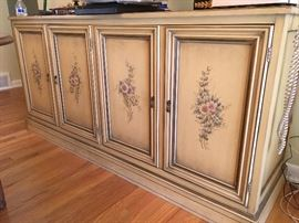 Hand stenciled french provincial side bar or buffet