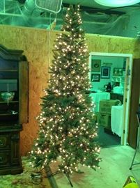 9 Foot Montgomery Spruce Faux Christmas Tree w/ Clear Lights