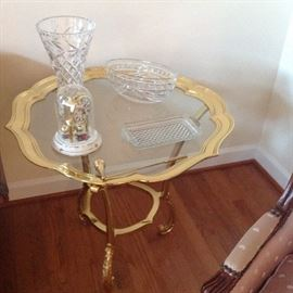 Brass/ Glass Cocktail Table