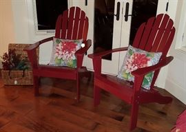 Red Adirondak Chairs