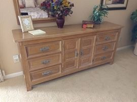 6 drawer chest W/ mirror in the master bedroom