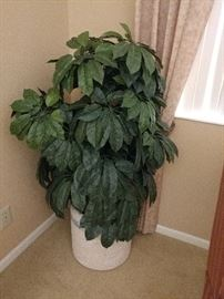 Faux potted plant in the master bedroom