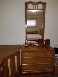 Three piece dresser - $100   Mirror   $25