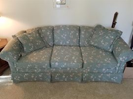 Green floral sofa   $50