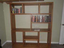 contemporary bookcase with small sample of books