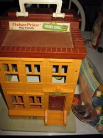 Sesame Street Fisher Price play family