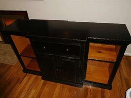 black  storage-display  piece