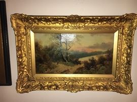 Collection of 19th century oil paintings--some signed.